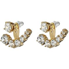 Kate Spade New York Dainty Sparklers Ear Jacket Earrings ($58) ❤ liked on Polyvore featuring jewelry, earrings, clear, kate spade earrings, kate spade, polish jewelry, sparkle jewelry and sparkly earrings