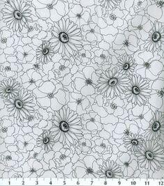 Keepsake Calico Fabric-Poppy Stitch White