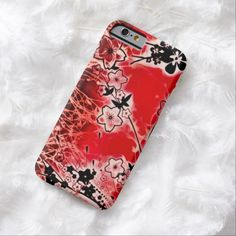 Red Flower Garden Airbrush Art iPhone 6, Barely There Case by BOLO Designs.