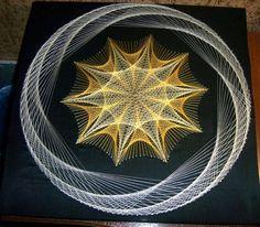 images attach c 6 91 925 Arte Linear, Linear Art, Nail String Art, String Crafts, Mandala, Contemporary Art Forms, String Art Patterns, Psy Art, Spirograph