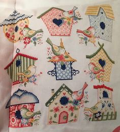 Birdhouse by Lucie Heaton, chart in Cross Stitch Gold issue 144
