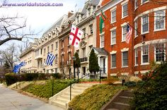 See a map and directions to Embassy Row in Washington DC, learn about the foreign embassies along Massachusetts Avenue near Dupont Circle America Washington, Washington Dc Travel, Washington Things To Do, Pacific Crest Trail, Pacific Coast, Travel Humor, The Row, Places To Visit, Dupont Circle