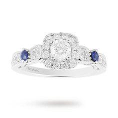 Vera Wang Love 0.70 Total Carat Weight Diamond Vintage Style Ring in 18  Carat White Gold