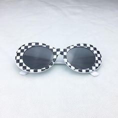 551b3c5d180 Kurt Cobain Checkered Clout Goggles Cool Glasses