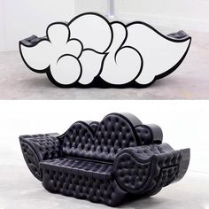 Clever way to work graffiti into furniture design by Tilt