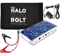 HALO Bolt AC DC 58,830 mWh Portable Charge Car JumpStarter with AC Outlet — QVC.com