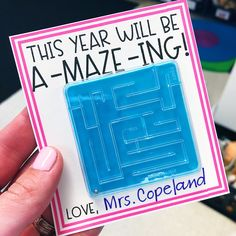 FREE Back to school student gift idea and gift tag. This year will be a-MAZE-ing back to school gift tag - a FREEBIE from True Life I'm a Teacher! back to school encouragements, back to school diy, back to school activities highschool Back To School Gifts For Kids, Back To School Night, Back To School Crafts, Back To School Hacks, Back To School Teacher, 1st Day Of School, Beginning Of The School Year, Back To School Activities, School Stuff