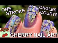 NAIL ART ONE STROKE fleurs ongles courts