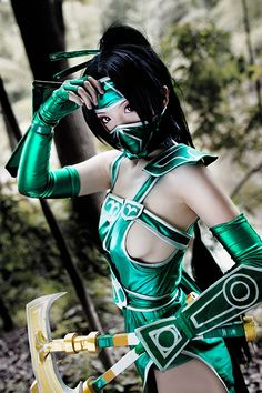 Misa米砂 Cosplay as Akali League of Legends (474×711)