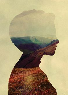 Double Exposure - Andreas Lie Art And Illustration, Watercolor Illustration, Illustrations, Multiple Exposure, Double Exposure, Graphic Design Art, Graphic Design Inspiration, Elements Of Art, Photomontage