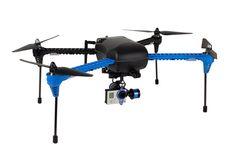 l'IRIS+ avec nacelle 2 axes stabilisée pour GoPro drone fabriqué par la société américaine 3DR. Produit vendu homologué par escadrone pour une utilisation pro
