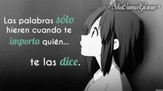 Las palabras hieren #ShuOumaGcrow #Anime #Frases_anime #frases