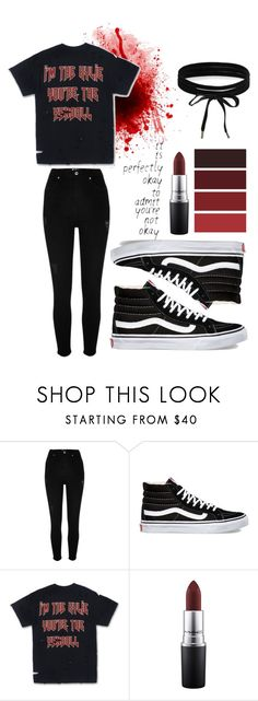 """""""help"""" by mimimt on Polyvore featuring mode, River Island, Vans, MAC Cosmetics et Boohoo"""