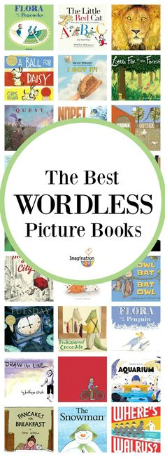 huge list + reading and writing activities for wordless picture books #childrensbooks #kids