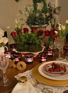 Valentine's Tablescape for Two