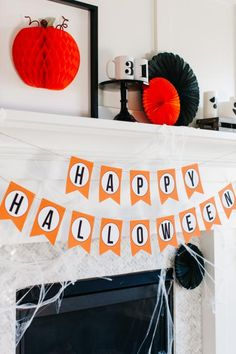 One Halloween Mantel Decorated 3 Ways: Spooky, Glamorous and Classic | Entertaining - DIY Party Ideas, Recipes, Wedding & Baby Showers | DIY