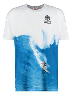 Franklin & Marshall STREET FIT - T-Shirt print - white - Zalando.de