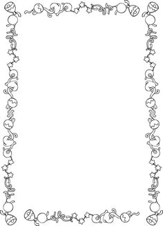 Black and White Christmas Page Borders | card front frame ...