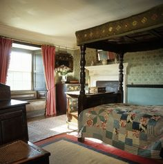Beatrix Potter's bedroom in Hill Top House in Near Sawrey, Cumbria, England, UK
