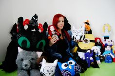 My friends! Plushies handmade ^_^  #eyes #hair #red #redhair #browneyes #capellirossi #rosso