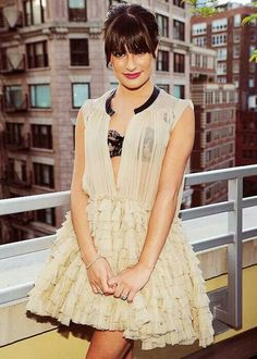 Lea Michele. Love this outfit!