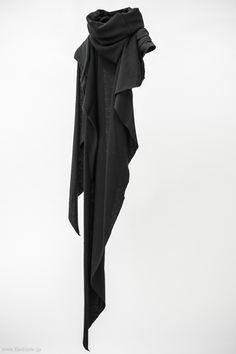 "fascinate2007: ""Devoa Cotton x Cashmere Stole / OAC-KCC / Black x Charcoal """
