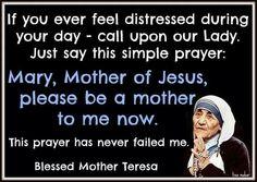 Blessed Mother Teresa. Virgin Mary. Catholic. Catholics. Catholicsm. Prayer