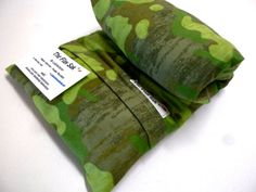 Microwave FLAX Seed HEATING PAD - hot cold pack -  Camo - Removable - Washable Flannel cover  -  Pain relief - Arthritis relief-The FLaX SaK