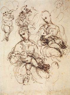 Raffaello Sanzio - study 1507   #TuscanyAgriturismoGiratola