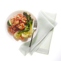 We love the way this cooking method lightly chars the bok choy and intensifies the natural sweetness and juiciness of the shrimp. And roasting them together leaves you with plenty of time to whip up a gently spicy, savory batch of kimchi rice to serve alongside.