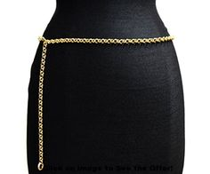 NYfashion101 Trendy Belly Chain Belt w/ Single Link Chain IBT1010-Gold