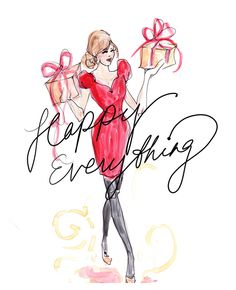 Celebrate the Holidays! Happy Everything. Illustrator: Inslee Haynes.