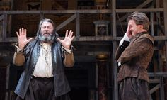 Jamie Parker and Roger Allam in Henry IV, parts 1 & 2 at Shakespeare's Globe Theatre.