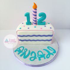 1/2 birthday cake. 6 months cake. Follow us on Instagram @ alittleslice #halfbirthday #6monthscake #smallcake #halfcake