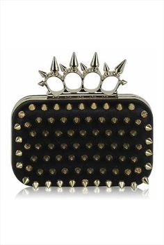 Just had to pin this Gold Spike Ring Clutch from www.vestryonline....