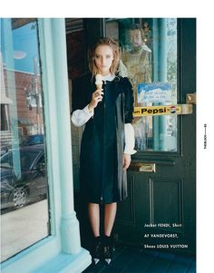 Amanda Norgaard is Born Again for The Block A/W 2012 by Tung Walsh / for an ice cream