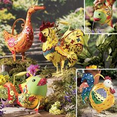Whimsical Watering Cans F4442-1