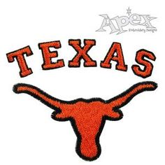 """Texas Embroidery Design PACK. Size: 2.41"""" x 1.86"""""""