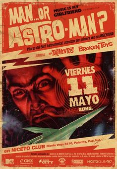 Man..Or astro-man ? gig poster