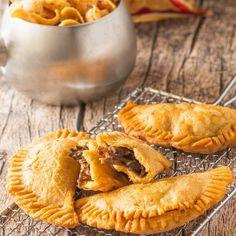 Recipe Written by Eden Westbrook //@sweet_tea_thyme Pork Empanadas, Original Corn, Tastemade Recipes, Tortilla Press, Corn Chips, Bbq Pork, Sweet Tea, Cheddar Cheese, Food Processor Recipes