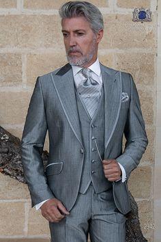 190b8504b9c Traje de novio gris claro lana mohair alpaca