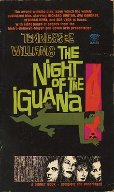 """MP567. """"The Night of the Iguana"""" Cover book and Movie Poster by Saul Bass (John Huston 1964)"""