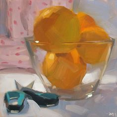 DPW Fine Art Friendly Auctions - Cutting Oranges by Carol Marine