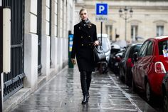 all black everything is everything. Paris Haute Couture Spring 2015 Street Style