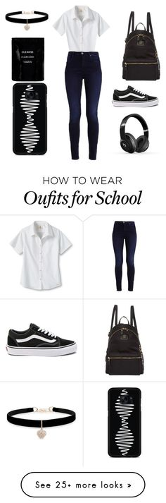 """Untitled #274"" by shushanik-matevosyan on Polyvore featuring GUESS, Lands' End, Vans, Beats by Dr. Dre, Betsey Johnson, Cleanse by Lauren Napier and Samsung"