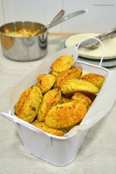 Ponto de Rebuçado Receitas: Pastéis de bacalhau e grão no forno