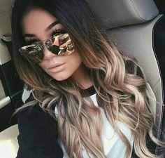 Dark creamy blonde ombre hair #