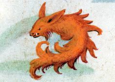 firefox fish 'Hours of Joanna the Mad', Bruges 1486-1506. BL, Add 18852, fol. 89r