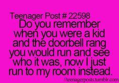 I actually ran around the house like a ninja