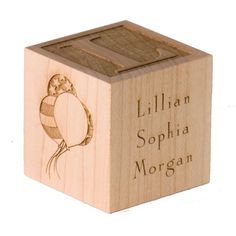 Personalized Babys First Birthday Block Engraved 2500 Via Etsy This Is What I